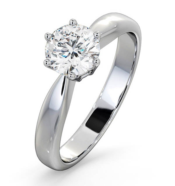Certified 0.90CT Chloe High Platinum Engagement Ring E/VS1