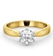 Certified 0.90CT Chloe High 18K Gold Engagement Ring G/SI1 - image 3