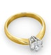 Certified 0.90CT Chloe High 18K Gold Engagement Ring G/SI1 - image 4