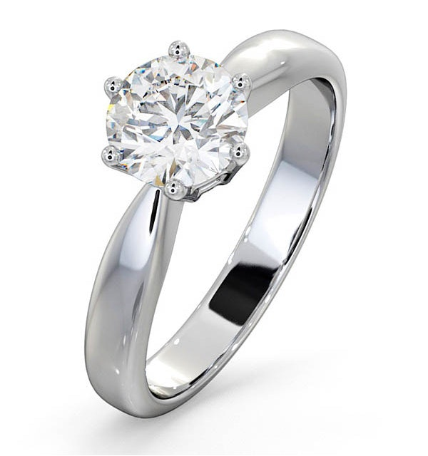 Certified High Set Chloe 18KW DIAMOND Engagement Ring 1.00CT - image 1