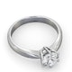 Certified High Set Chloe 18KW DIAMOND Engagement Ring 1.00CT - image 4