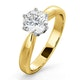Certified 1.00CT Chloe High 18K Gold Engagement Ring E/VS1 - image 1