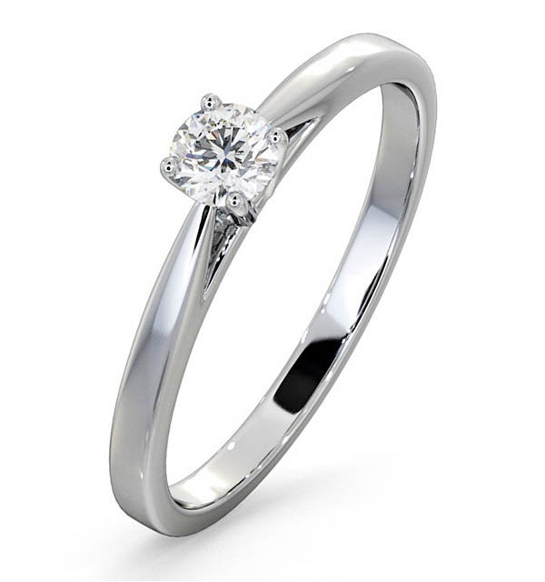 Engagement Ring Certified Petra 18K White Gold Diamond  0.25CT - image 1