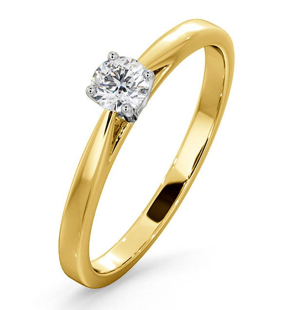 Engagement Ring Certified Petra 18K Gold Diamond  0.25CT-G-H/SI