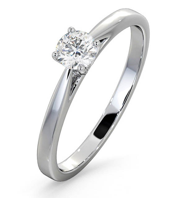 Engagement Ring  Certified Petra 18K White Gold Diamond 0.33CT - image 1
