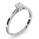 Engagement Ring Certified Petra Platinum Diamond  0.33CT H/SI - image 2