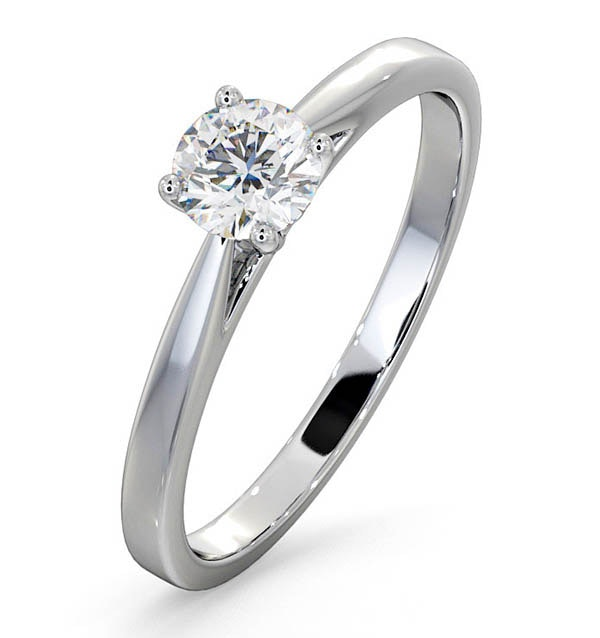 Engagement Ring Certified 0.50CT Petra 18K White Gold  E/VS2