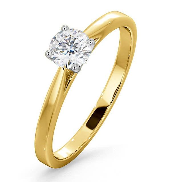 Engagement Ring Certified Petra 18K Gold Diamond  0.50CT
