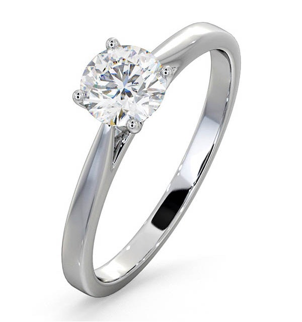 Engagement Ring Certified 0.70CT Petra Platinum  E/VS1 - image 1