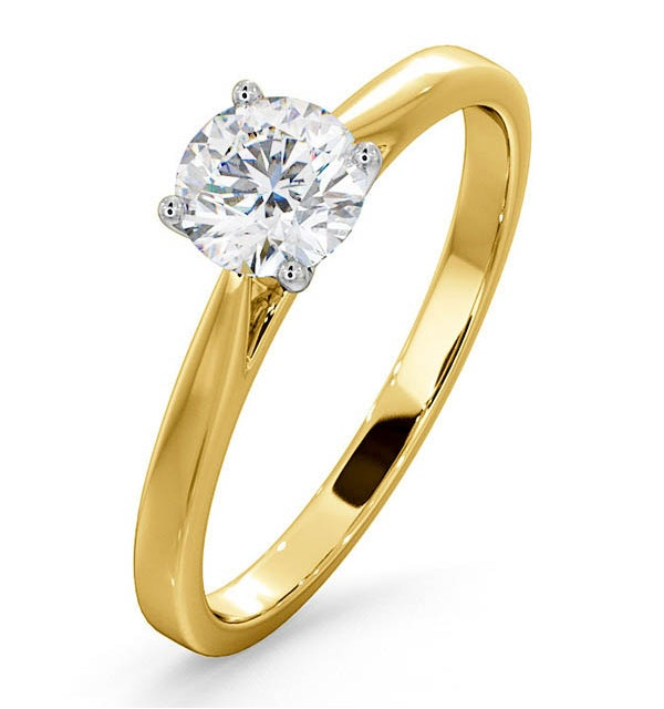 Engagement Ring Certified 0.70CT Petra 18K Gold  G/SI2 - image 1