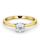 Engagement Ring Certified 0.70CT Petra 18K Gold  G/SI2 - image 3