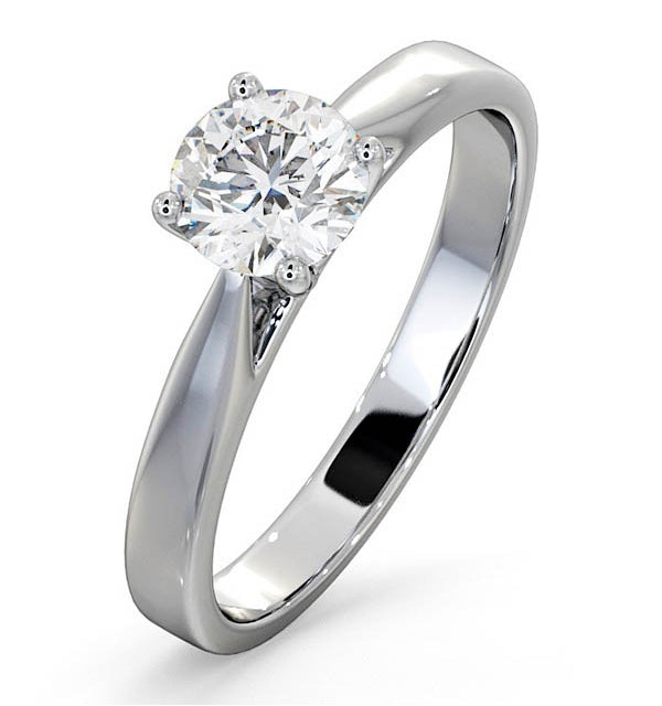 Engagement Ring Certified 0.90CT Petra Platinum  G/SI2 - image 1