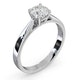Engagement Ring Certified 0.90CT Petra Platinum  G/SI2 - image 2