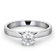 Engagement Ring Certified 0.90CT Petra Platinum  G/SI2 - image 3