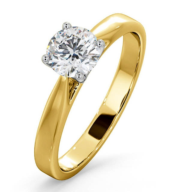 Engagement Ring Certified 0.90CT Petra 18K Gold  E/VS1