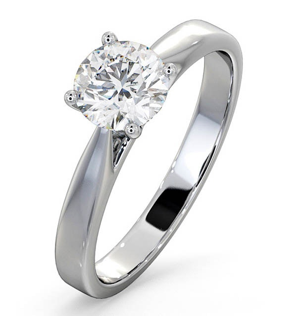 Engagement Ring Certified 1.00CT Petra 18K White Gold  E/VS2