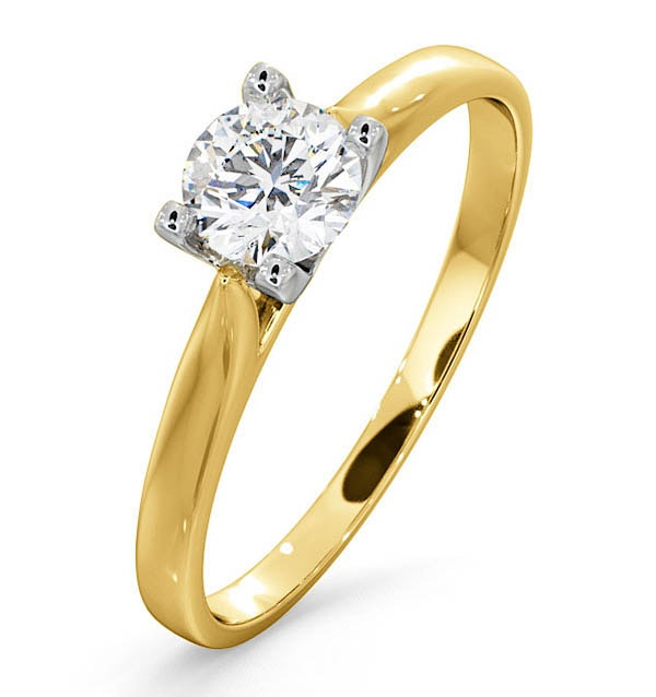 Certified 0.50CT Grace 18K Gold Engagement Ring E/VS1