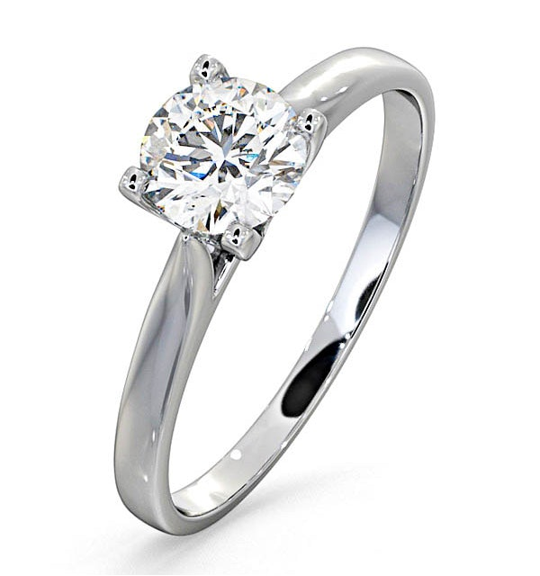 Certified 0.70CT Grace 18K White Gold Engagement Ring G/SI2 - image 1