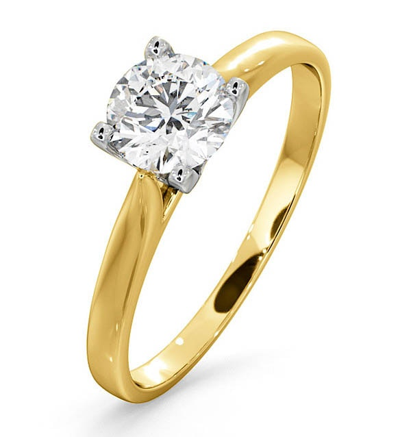Certified 0.70CT Grace 18K Gold Engagement Ring G/SI2