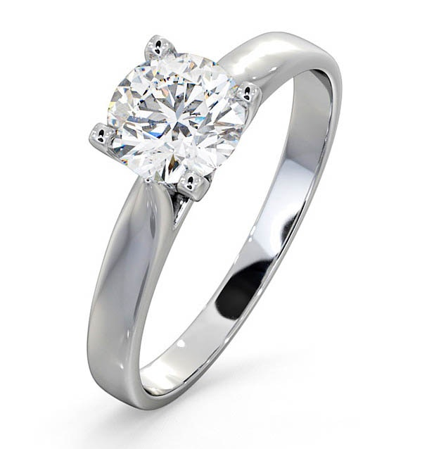 Certified 0.90CT Grace Platinum Engagement Ring E/VS1