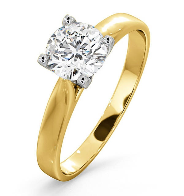 Certified 0.90CT Grace 18K Gold Engagement Ring E/VS1