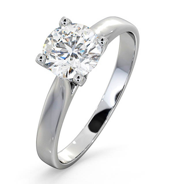 Certified 1.00CT Grace 18K White Gold Engagement Ring G/SI1