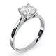 Certified 1.00CT Grace Platinum Engagement Ring E/VS1 - image 2