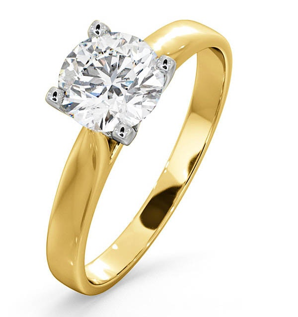 Certified 1.00CT Grace 18K Gold Engagement Ring E/VS1