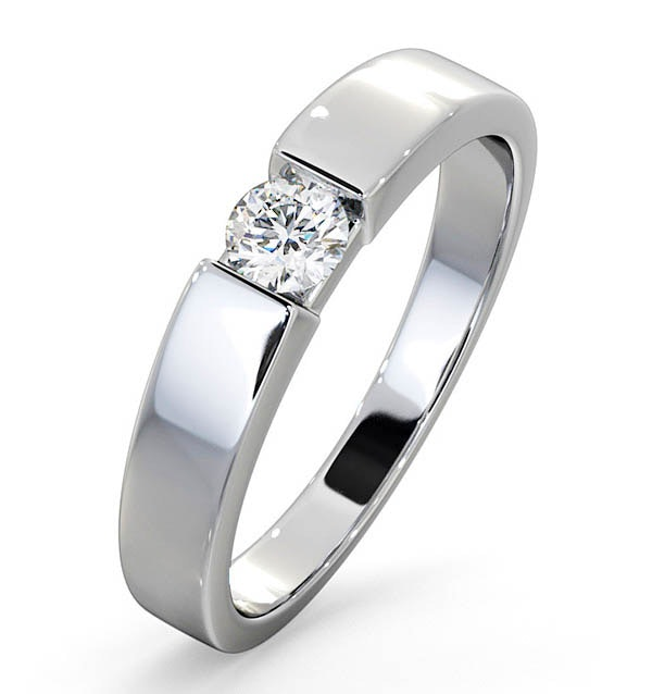 Certified Jessica 18K White Gold Diamond Engagement Ring 0.25CT