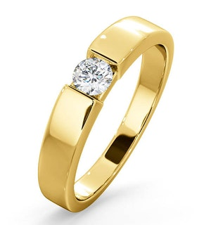 CERTIFIED JESSICA 18K GOLD DIAMOND ENGAGEMENT RING 0.25CT