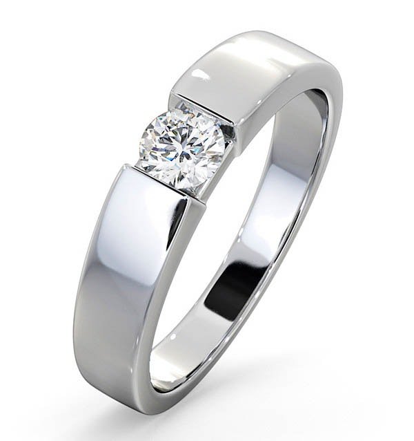 Certified Jessica 18K White Gold Diamond Engagement Ring 0.33CT-F-G/VS