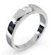 Certified Jessica 18K White Gold Diamond Engagement Ring 0.33CT-F-G/VS - image 2