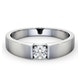 Certified Jessica 18K White Gold Diamond Engagement Ring 0.33CT-F-G/VS - image 3