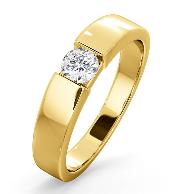 Certified Jessica 18K Gold Diamond Engagement Ring 0.33CT
