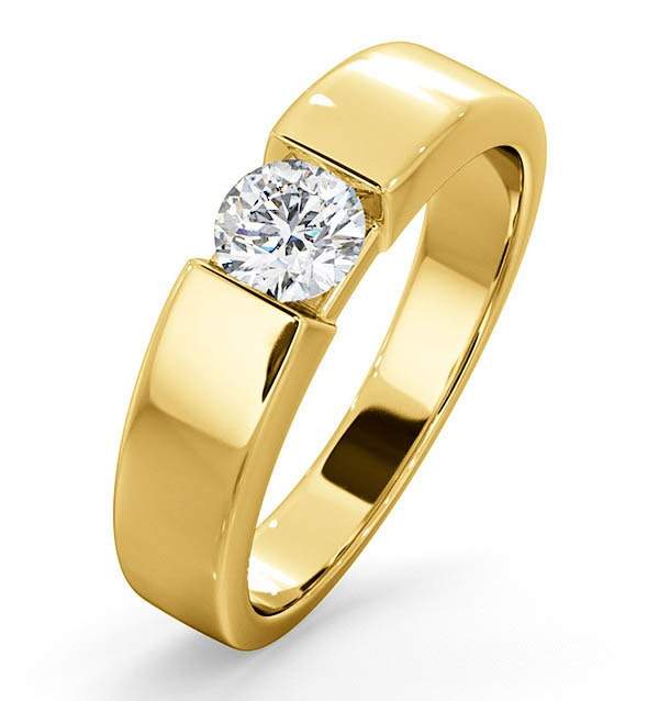 Certified Jessica 18K Gold Diamond Engagement Ring 0.50CT