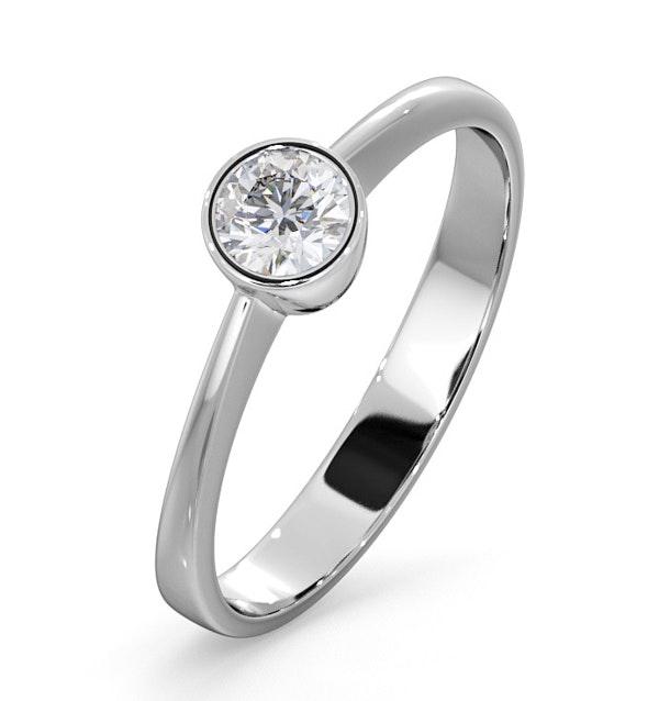 Diamond Engagement Ring - Round Emily 0.25CT 18K White Gold