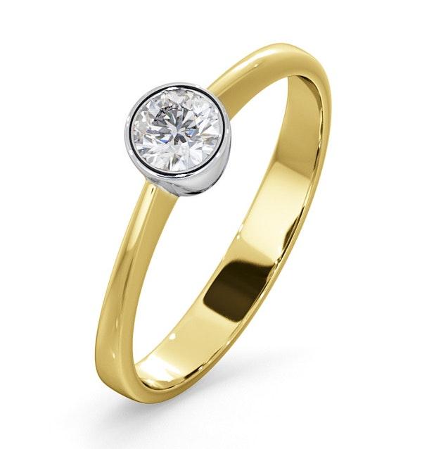 Diamond Engagement Ring - Emily Round 0.25CT H/SI - 18K Gold