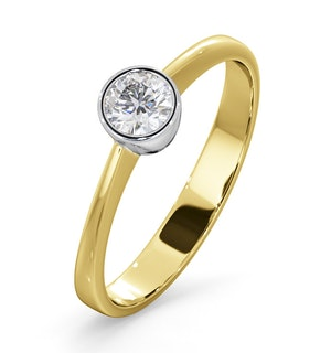 DIAMOND ENGAGEMENT RING - ROUND EMILY 0.25CT 18K GOLD