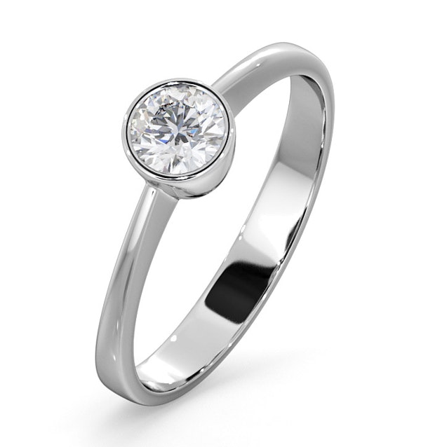Diamond Engagement Ring - Emily Round 0.33CT H/SI - 18K White Gold