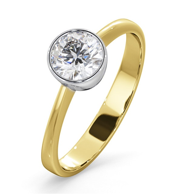 Diamond Engagement Ring - Round Emily 0.75CT 18K Gold - image 1