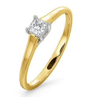 CERTIFIED LUCY 18K GOLD DIAMOND ENGAGEMENT RING 0.25CT-G-H/SI