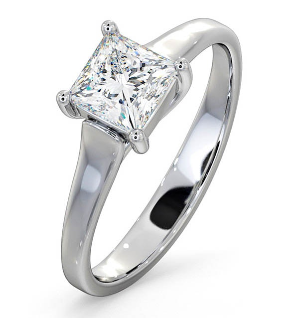 Certified Lucy Platinum Diamond Engagement Ring 0.75CT-F-G/VS - image 1
