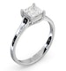 Certified Lucy Platinum Diamond Engagement Ring 0.75CT-F-G/VS - image 2