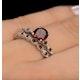 Stacking Ring Set Garnet Rings Sterling Silver - UT33229 - image 4