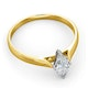 Certified Marquise 18K Gold Diamond Engagement Ring 0.50CT-F-G/VS - image 4