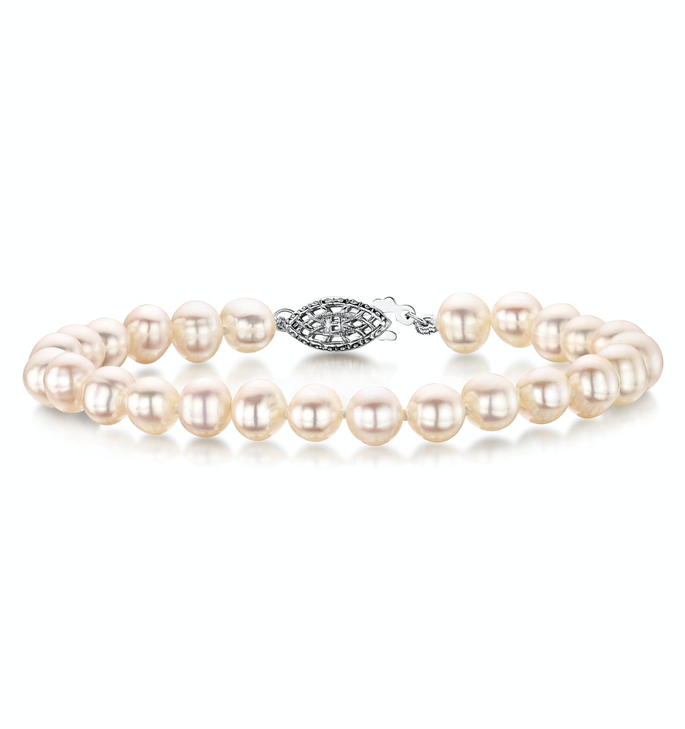 6.5mm Freshwater Pearl Amelie Bracelet with 925 Silver Clasp