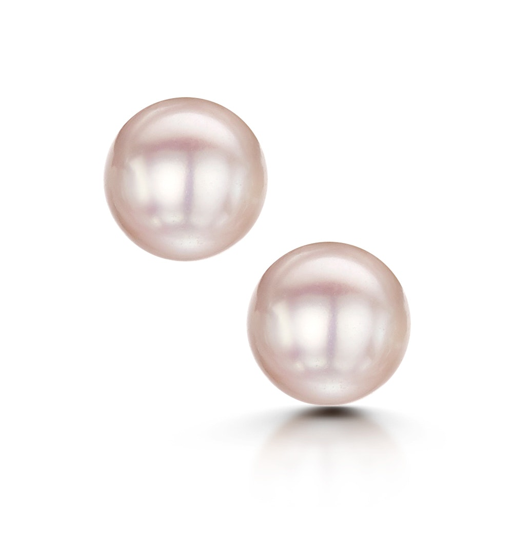 Amelie Collection 6mm Freshwater Pearl Stud Earrings in 925 Silver