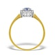 Sapphire 3 x 3mm And Diamond 9K Gold Ring - image 2