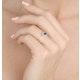 Sapphire 6 x 4mm And Diamond Ring 9K Yellow Gold - image 2