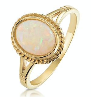 OPAL 1.02CT 9K YELLOW GOLD RING